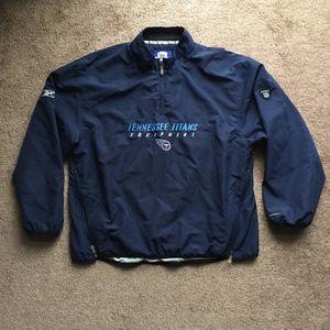 Reebok Tennessee Titans Zip Pullover Jacket XL